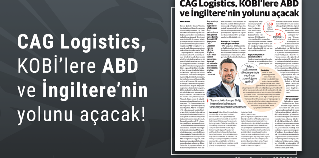 CAG Logistics will pave the way for SMEs in the USA and UK
